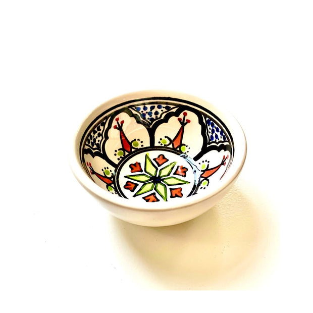 Medina Black Hand-painted Small Ceramic Bowl