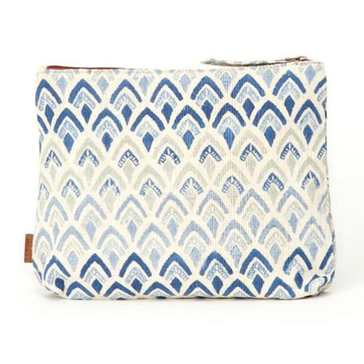 Meena Printed Cotton Vegan Large Pouch - Signature Print exterior