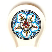 Mehari Hand-painted Ceramic Spoon Rest
