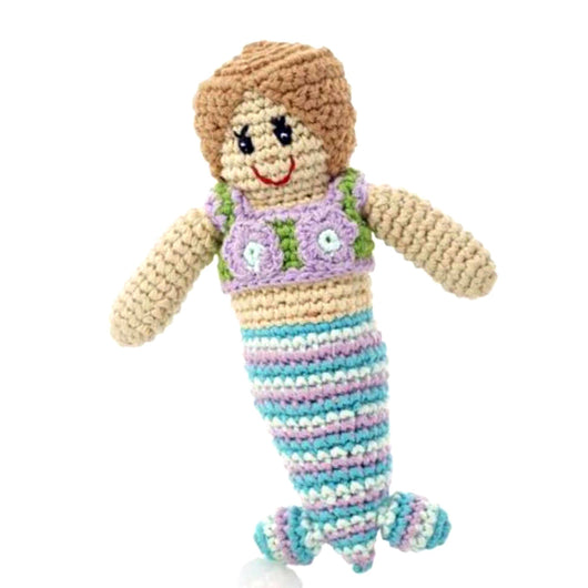 Pebble Crocheted Mermaid Rattle Toy