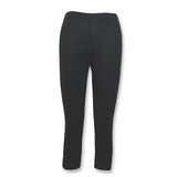 Organic Cotton and Spandex Mid-Calf Leggings-Slate