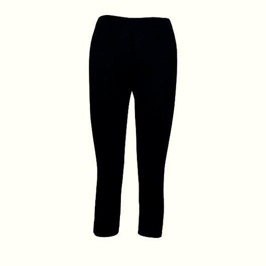 Organic Cotton and Spandex Mid-Calf Leggings-Black