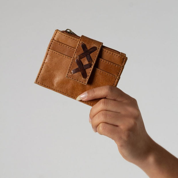 Mini Leather Wallet Insert lifestyle