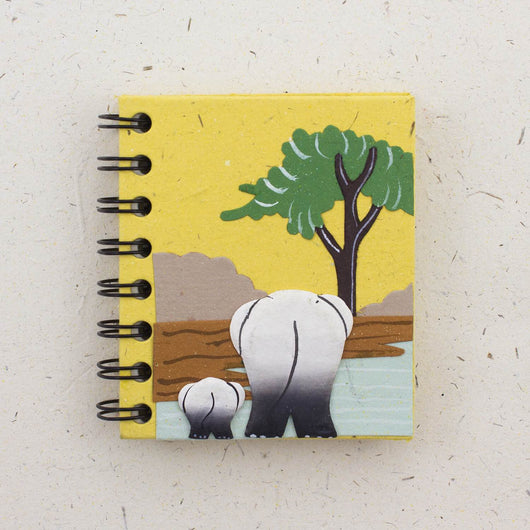 Mr. Ellie Pooh Elephant Small Notebook Journal
