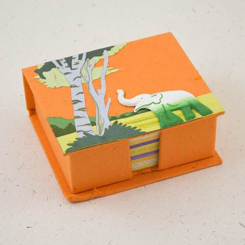 Mr. Ellie Pooh Blank Note Box Elephant-Orange