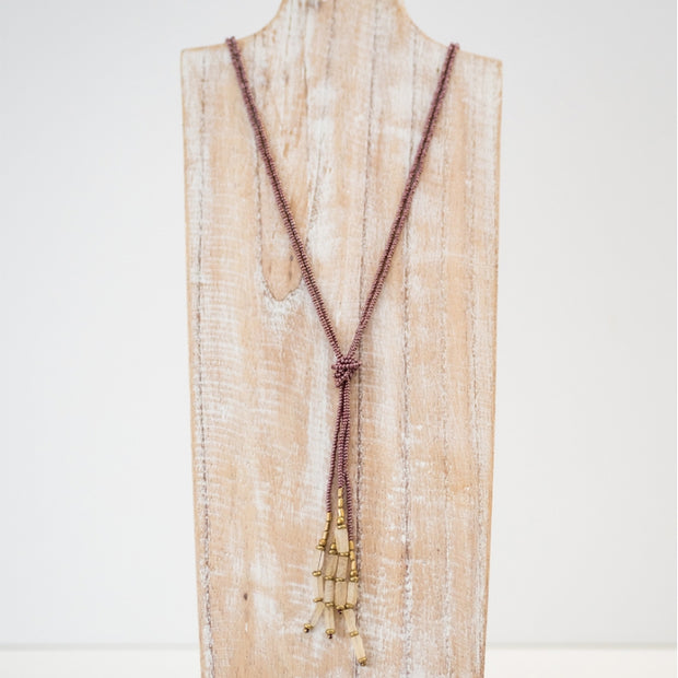 Beaded Hema Knotted Necklace - Wildflower lifestyle