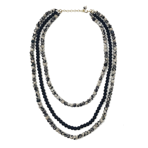 Kantha Indigo Layered Necklace