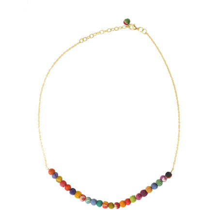 Delicate Kantha Bead Necklace