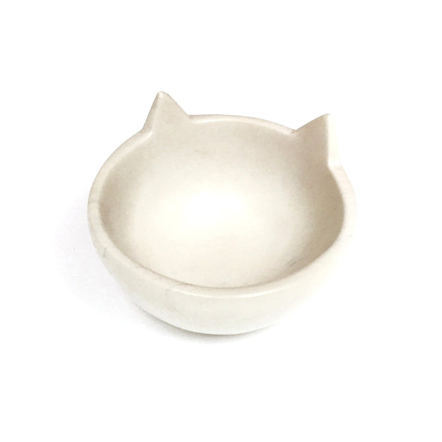 Natural Soapstone Small Cat Head Bowl