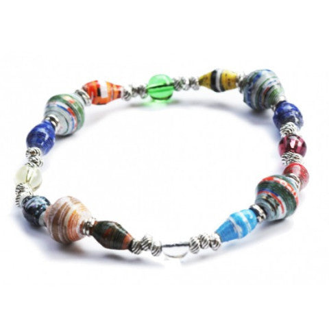 New Horizon Stretch Paper Bead Bracelet
