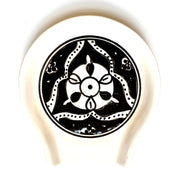 Nigella Black Hand-painted Ceramic Spoon Rest
