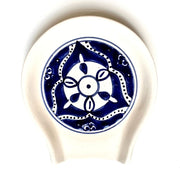Nigella Cobalt Hand-painted Ceramic Spoon Rest