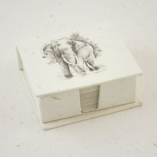 Mr. Ellie Pooh Blank Note Box Elephant Sketch