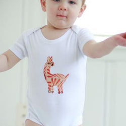 Onesie with Batik Applique - Llama by Forai St. Louis