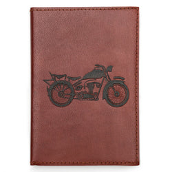 Open Road Motorcycle Embossed Leather Journal