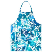 Printed Batik Fabric Reversible Apron - Fishy Turtles Watercolor