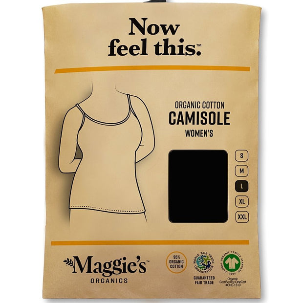 Organic Cotton Essential Camisole - Black packaging