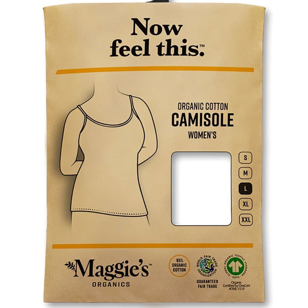 Organic Cotton Essential Camisole - White packaging