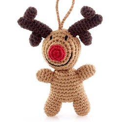 Hand-crocheted Rudolph ther Reindeer Ornament