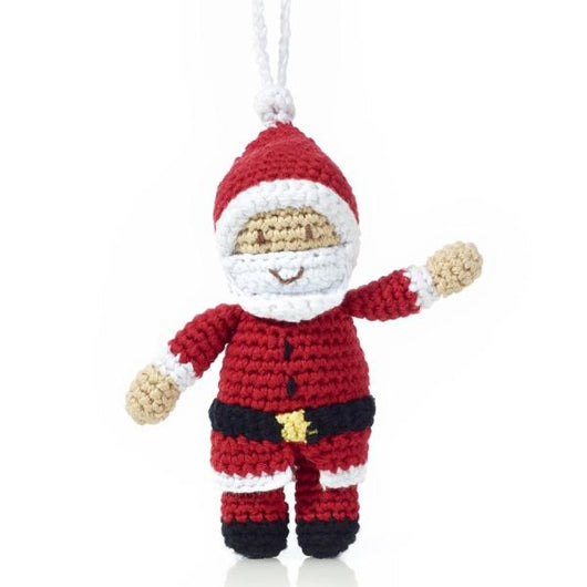 Hand-crocheted Santa Claus Ornament