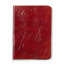 World Map Leather Passport Cover