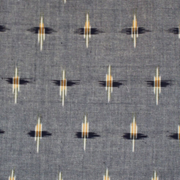Chambray Ikat Button Dress fabric detail