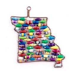 EXCLUSIVE Show Me State of Missouri Paper Bead Ornament