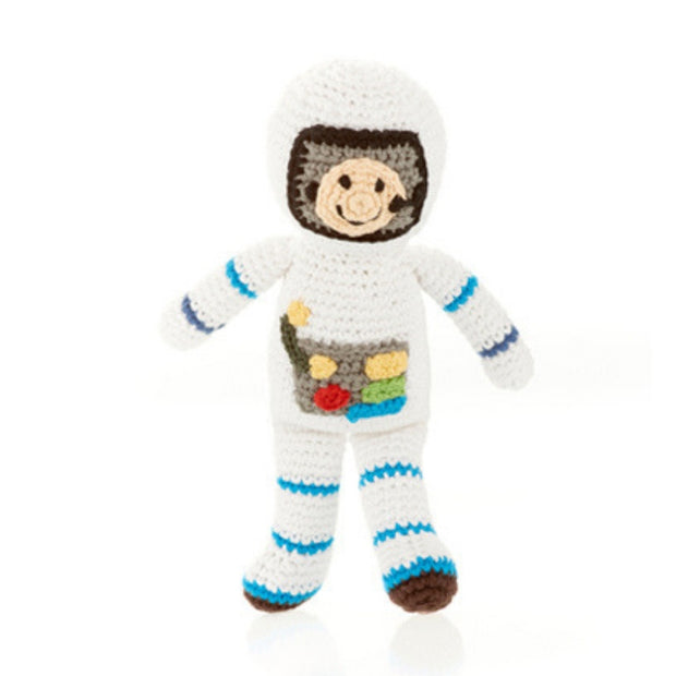 Pebble Child Spaceman Astronaut Rattle Toy