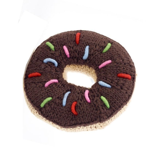 Chocolate Donut Rattle by Pebble Child
