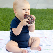 Pebble Child Chocolate Donut Rattle lifestyle