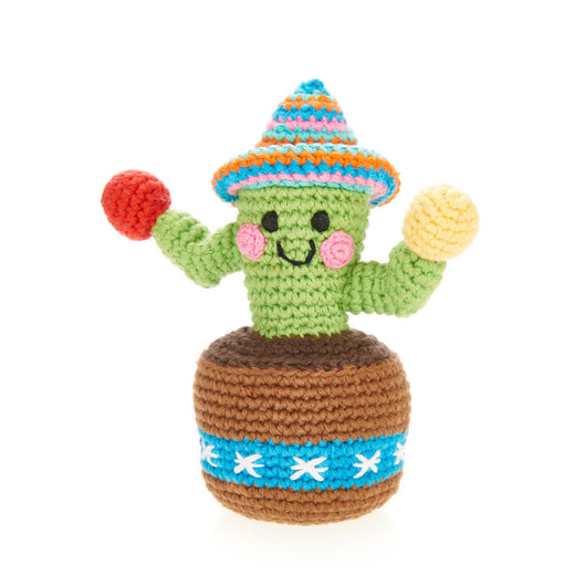 Pebble Friendly Cactus Rattle Toy