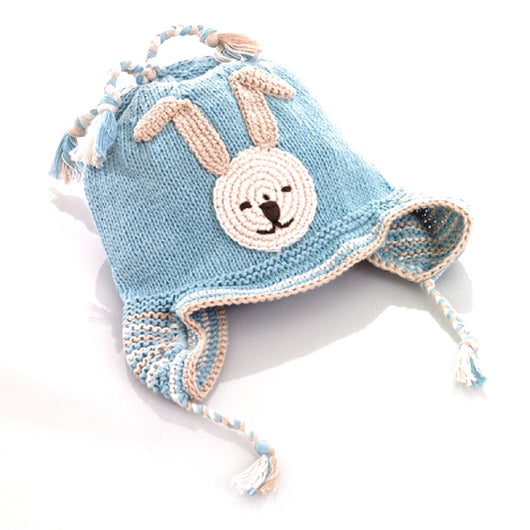 Organic Cotton Blue Bunny Kid's Hat