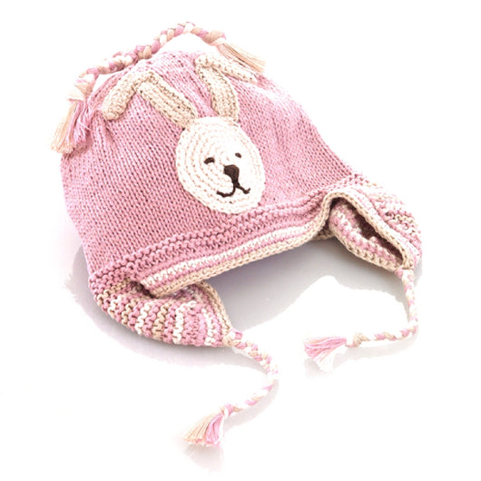Pebble Organic Cotton Pink Bunny Kid's Hat
