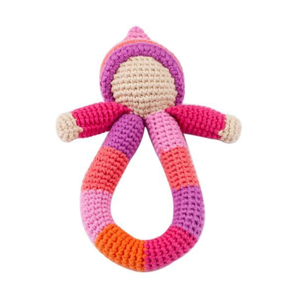 Pebble Pixie Ring Rattle - Pink