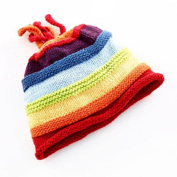 Pebble Rainbow Hand-knitted Hat
