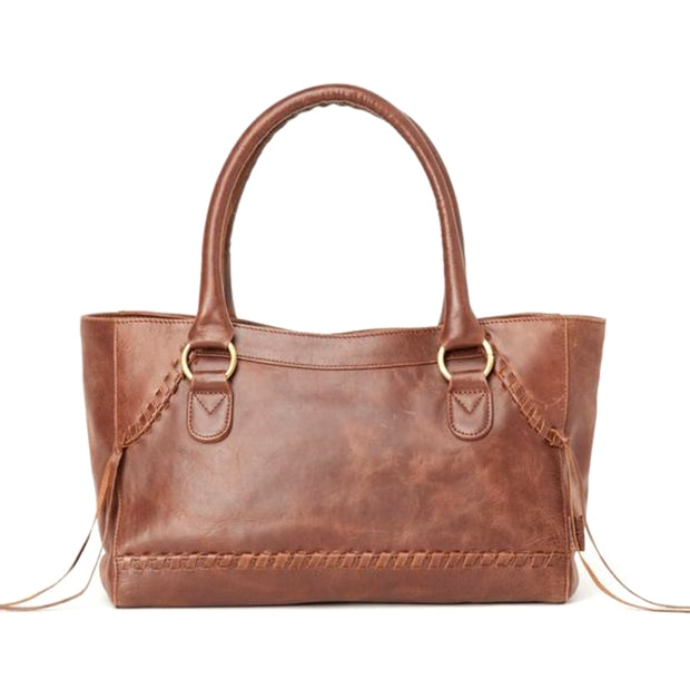 Pema All Leather Handbag back view
