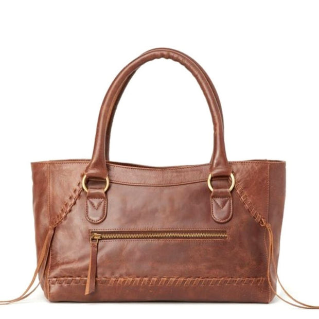 Pema All Leather Handbag front view