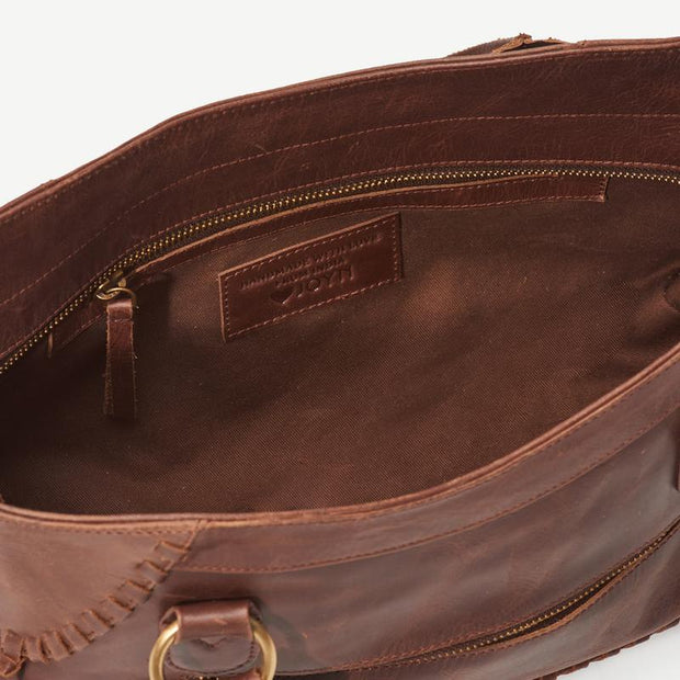 Pema All Leather Handbag interior