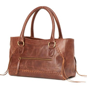 Pema All Leather Handbag side view
