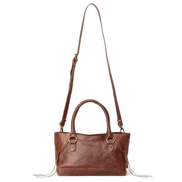 Pema All Leather Handbag with Strap front view