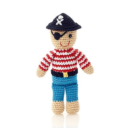 Pebble Crocheted Pirate Rattle Toy