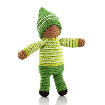Pebble Pixie Rattle Toy - Fern Green