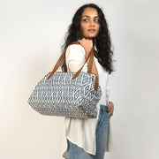 Three-in-One Weekender Bag - Blue Ikat lifestyle