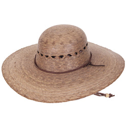Ranch Lattice Palm Leaf Hat angle view