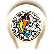 Rainbow Fish Hand-painted Ceramic Spoon Rest