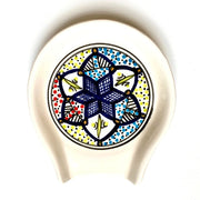 Raslen Hand-painted Ceramic Spoon Rest