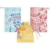 Recycled Flour Sack Batiked Produce or Gift Bag assorted