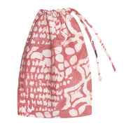 Recycled Flour Sack Batiked Produce or Gift Bag red