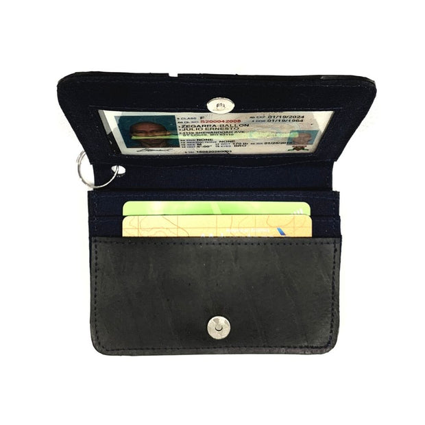 Recycled Tire Tube Card ID Holder interior
