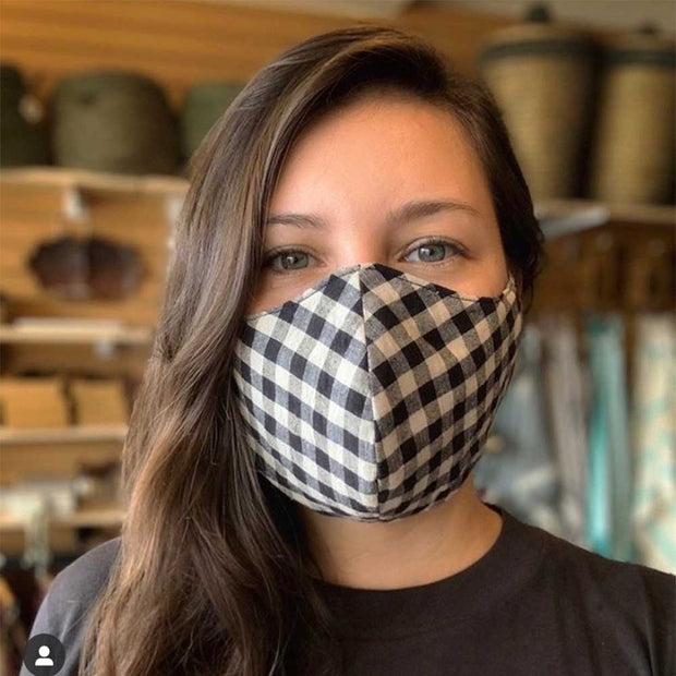 Reusable Cotton Face Mask - Assorted Patterns on model